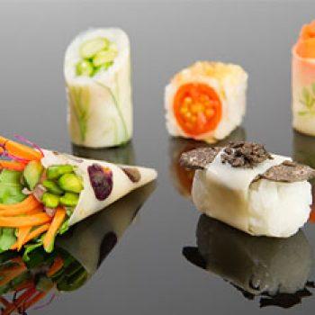 Sushi patatarekin